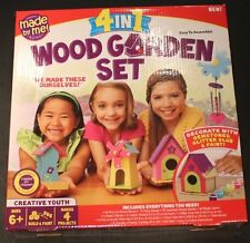 Made By Me Wood Garden Set 4 in 1 Assemble New