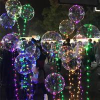 Decorazione di luci natalizie per feste di Natale palloncini trasparenti a LED