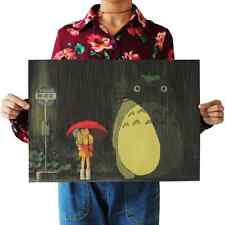 Retro Totoro Wall Poster Wall Decals Kraft Paper Poster Movie Poster home Bar Ca