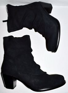 CORDANI CALZATURE UMBER NEW $310 SZ 6.5 M 37 BLACK SUEDE ANKLE BOOTS BOOTIES