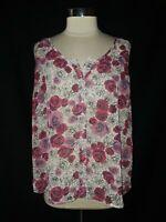 TORRID Plus Size 0 0X Tank Top White Red Pink Black Floral Sheer Sleeveless