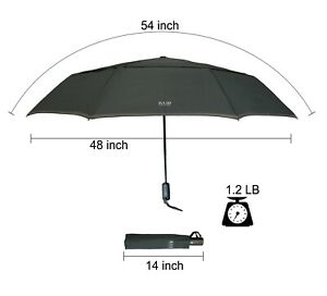 KUD 54 inch Arc Largest Canopy Auto open/close with True Dual Vented Canopy