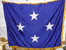 flag816 Us Navy 4 Star Full Admiral flag 66 x 53 w/ Gold Fringe Valley Forge 72