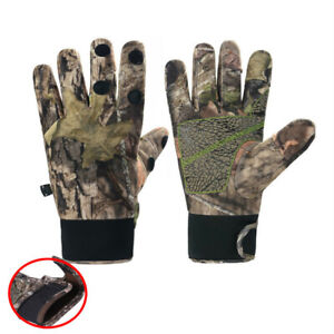 Outdoor Fishing Gloves Waterproof Leaky Finger Bionic Camouflage Gloves