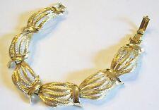 Vintage Star Gold Tone Swag Bracelet