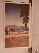 1940 POSTCARD PAVED WALKS TO CRATER LAKE SCENIC PICTURE LAKE EDGE