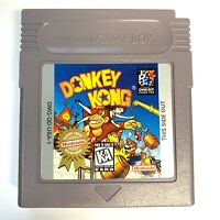 Donkey Kong Nintendo Original GameBoy Game - Cleaned - Tested - Authentic!