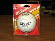 Vintage Wilson Official Tn-Poly White Softball A9161 .50 Cor New In Package