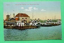 Schleswig Holstein AK Kiel 1905-20 Seegarten Brücke Restaurant Lotsen Boote ++++