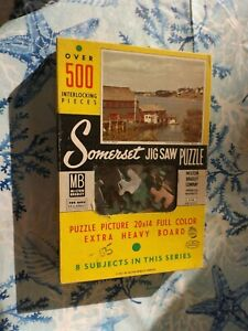 1957 Milton Bradley Somerset Puzzle Over 500 Pieces #4748 Isle of Dreams
