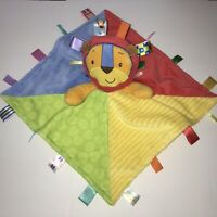 Taggies Lion Security Blanket Red Blue Green Yellow Textures Baby Lovey Lovie