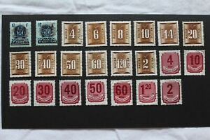 Hungary Used Postage Due Selection
