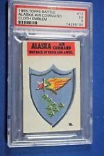 1965 Topps Battle Cards - Cloth Emblem #13 - Alaska Air Command - PSA Ex 5