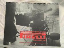 Signed PETER LINDBERGH Pirelli CALENDAR 2002 autograph SIGNIERT Autogramm InPERS