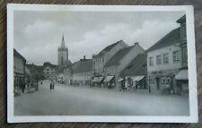 alte AK Blatna Markt Kirche Straße Einkaufspassage Tschechien Böhmen ca. 1920