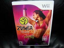 Zumba Fitness  (Wii, 2010) EUC FREE USA SHIPPING