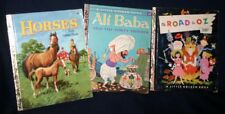 3 Vintage Little Golden Books - Ali Baba, Horses & The Road to Oz