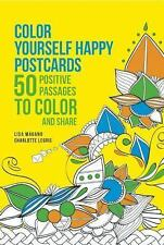 Color Yourself Happy Postcards : 50 Positive Passages to Color and Share by Lis…