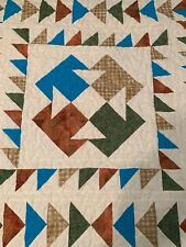 """Handmade Lap /Throw/Table Top/WallHanging Quilt-reversible 52"""" x 60"""" T Design"""