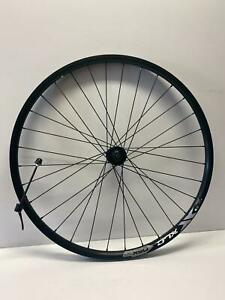 """NEW QUALITY Deore M610/DT 533d Front bicycle Wheel 26"""" QR100mm Center-Lock Black"""