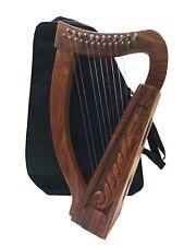 12 Saiten Sheesham Holz Irisch Mundharmonika, Tragetasche & Abstimmen Schlüssel