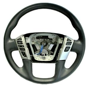 OEM 2019 2020 2021 Nissan Titan Titan XD Black Steering Wheel 48430-9FU1A