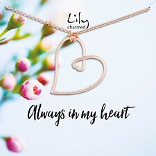 Lily Charmed 'Always In My Heart' Rose Gold Necklace