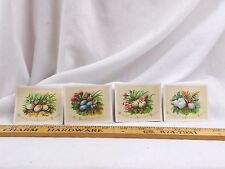 Lot of 4 Embossed Victorian Easter Trade Cards Colorful Clutches Of Eggs F43