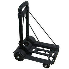 165 lbs Folding Cart Luggage Trolley Hand Push Truck Collapsible Portable Cart