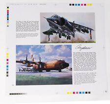 AIRFIX Hawker-BAe Harrier, Lockheed C-130 Hercules. Printers Proof. Roy Cross.