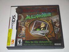 Mystery Case Files: MillionHeir (Nintendo DS, 2008) **COMPLETE**