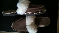 NEW suede and sheep wool slippers, size Uk 5