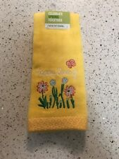 Happy Spring Bath Tip Towel NWT Embroidered Design