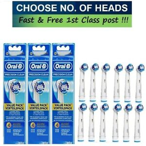 Braun Oral B Replacement Electric Toothbrush Heads (PRECISION CLEAN)