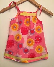 HANNA ANDERSSON Girls Size 80 18-24 Mo Summer Pillow Case Retro Floral Dress