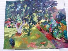 """BERTHOMME SAINT-ANDRE (1905-1977) """"Le grand pommier"""" Belle Huile sur toile 1951"""