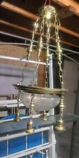 Antique 5 Light Classic Revival Brass Chandelier Art Deco Fixture 1910