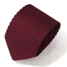 """New Wine Men's Solid Rayon Knit Neck Ties Wine  3"""""""