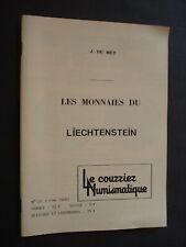 DE MEY LES MONNAIES DU LIECHTENSTEIN COURRIER NUMISMATIQUE 1980