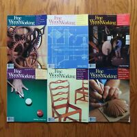 Fine Woodworking Magazine Lot 1986 Complete Year (6) Old Furniture Design Plans
