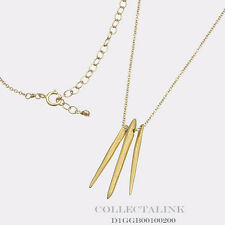 """Authentic Dogeared Gold Dipped Dare to 3 spears Necklace 18"""" D1GGB00100200"""
