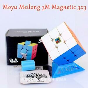 AU STOCK MoYu Meilong 3x3x3 3M Magnetic Speed Stickerless Magic Cube Puzzle Toy