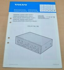 Volvo 740 760   Einbauanleitung Graphik Equalizer EQ-611 1989