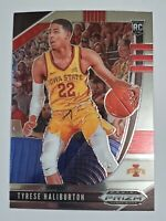 TYRESE HALIBURTON PRIZM SILVER CHROME ROOKIE CARD IOWA STATE RC KINGS 2020 PRIZM