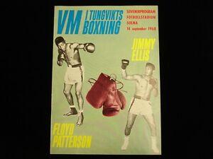 September 14, 1968 Boxing Program - Floyd Patterson vs. Jimmy Ellis - EX-MT
