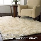 White Shag Wool Greek Flokati Rug FIVE SIZES FREE DELIVERY AUST WIDE