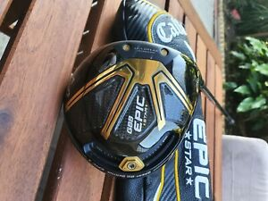 CALLAWAY EPIC STAR DRIVER, 10.5*,R/H, MINT CONDITION WITH HEADCOVER