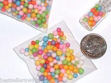 60 Pc Mix Tiny miniature dollhouse food Mix lightweight fm Bubble Gum Ball Candy