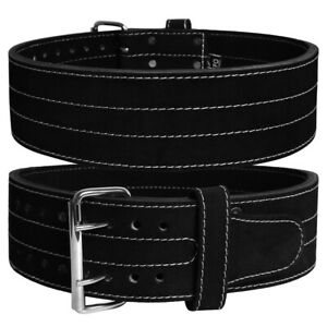 POWERLIFTING BELT SINGLE DOUBLE PRONG WEIGHTLIFTING GYM TRAINING WORKOUT LEATHER