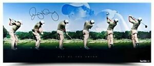 """RORY McIlroy Autographed """"Art of The Swing"""" Panoramic Photo UDA LE 250"""